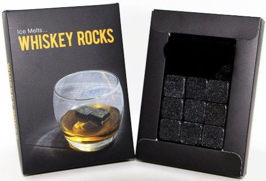 Premium Granite Whiskey Rocks - set of 9