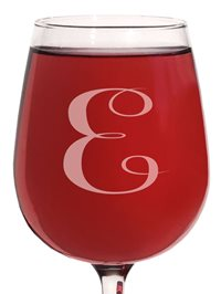 (E-Monogram) 12.75 Ounce Engraved Wine Glass 1