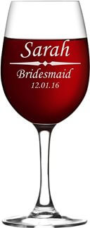 Wine Glass Personalized with Custom Laser Etching