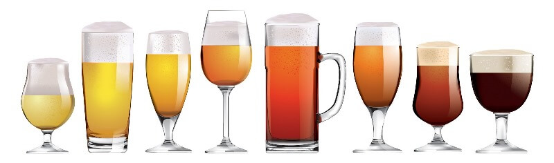 Craft Beer Glass Shapes