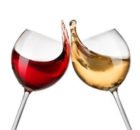 the difference between red and white wine glasses
