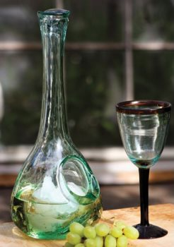 Kalalou Glass White Wine Decanter with Ice Pocket