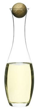 Wine Water Carafe with Oak Stopper