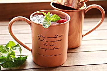 100% Pure Copper Moscow Mule Mugs - Choose From 6 Different Engraved Timeless Quotes