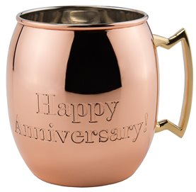 Copper HAPPY ANNIVERSARY engraved Moscow Mule Mug