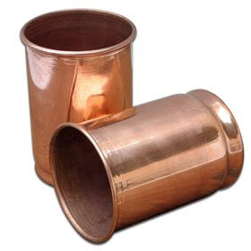 Handmade Copper Tumblers, Set of 2