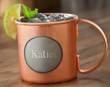 Personalized Moscow Mule Copper Mug – 16 oz