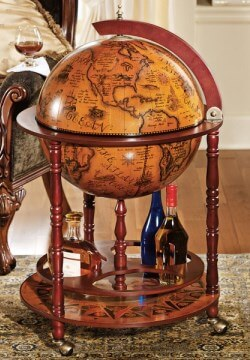 Sixth Century Italian Replica Old World Globe Bar