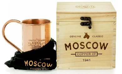 The Original 100% Pure Copper Moscow Mule Mug