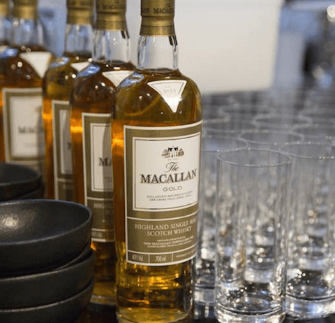 macallan gold and glasses