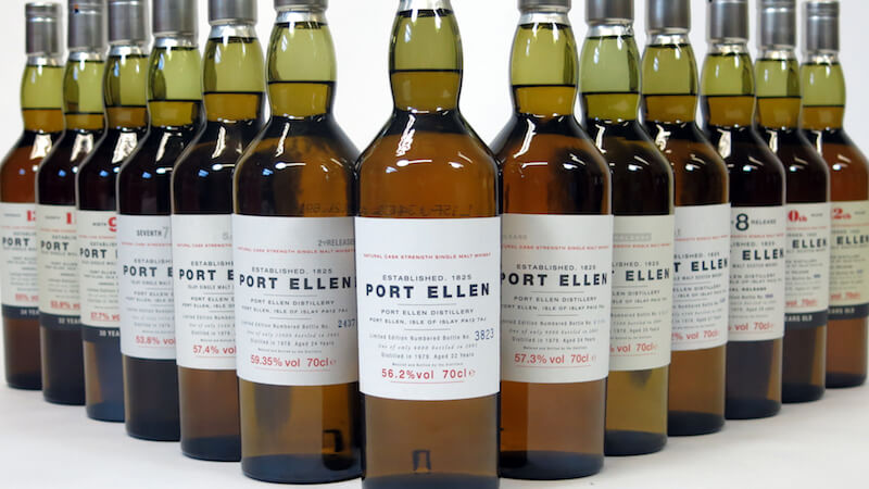 port ellen whiskey bottles