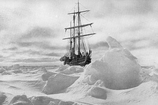 ship in snow