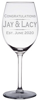 Personalized Engraved Wine Glass