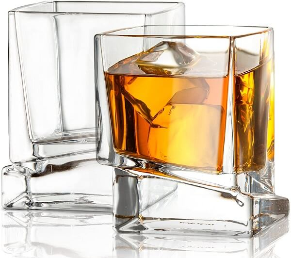 JoyJolt Carre Square Scotch Glass
